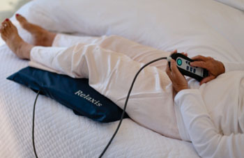 Image: The Relaxis restless legs syndrome device (Photo courtesy of Sensory Medical).