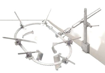 Image: The Bookwalter Retractor System (Photo courtesy of Symmetry Surgical).