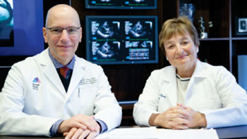 Image: Dr. David Adams and Dr. Julie Swain of CMeD (Photo courtesy of Mount Sinai Heart).