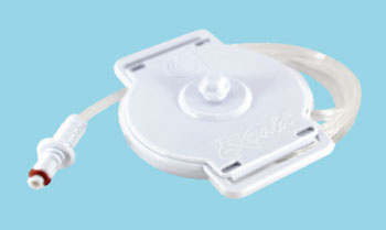 Image: The Koala Toco disposable tocodynamometer (Photo courtesy of Clinical Innovations).