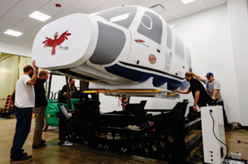Image: The Sikorsky S-76 ACNP helicopter simulator (Photo courtesy of Case Western Reserve University).