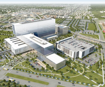 Image: The new Parkland Memorial Hospital (Photo courtesy of Parkland Memorial Hospital).