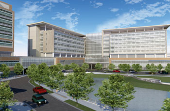 Image: Artist rendering of The UF Health & Vascular Hospital and Neuromedicine Hospital (Photo courtesy of the University of Florida).