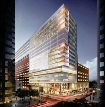 Image: Artist rendition of the new 17-story Peter Gilgan Patient Care Tower (Photo courtesy of St. Michael\'s Hospital).
