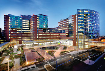 Image: The new Sheikh Zayed Tower and Charlotte R. Bloomberg Children\'s Center (Photo courtesy of Johns Hopkins Medicine).