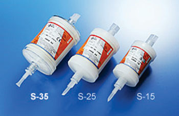 Image: The Lixelle apheresis columns are available in three sizes (Photo courtesy of Kaneka).