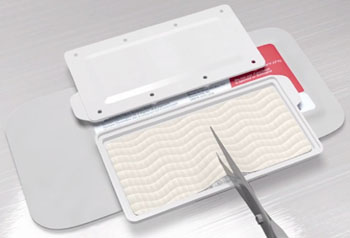 Image: The EVARREST Fibrin Sealant Patch (Photo courtesy of Ethicon).