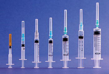 Image: Examples of the K1 auto-disable smart syringe (Photo courtesy of Star Syringe).