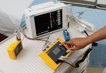 Image: The Fluke ProSim 3 and 2 Vital Signs Simulators (Photo courtesy of Fluke Biomedical).