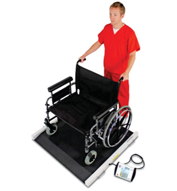 Image: The Detecto BRW1000 bariatric portable wheelchair scale (Photo courtesy of Detecto).