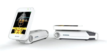 Image: The Accuro phone-sized ultrasound system (Photo courtesy of Rivanna Medical).