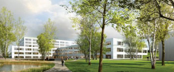 Image: Artist representation of the new LimmiViva hospital in Schlieren (Photo courtesy of Bouygues Construction).