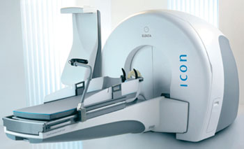 Image: The Leksell Gamma Knife Icon cranial radiosurgery system (Photo courtesy of Elekta).