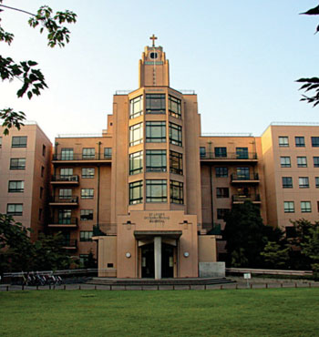 Image: Main Entrance to St. Luke's International Hospital (Photo courtesy of Jay Starkey/Wikimedia).