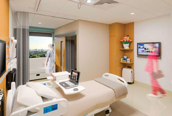 Image: Patient room at the new Humber River Hospital (Photo courtesy of Humber River Hospital).