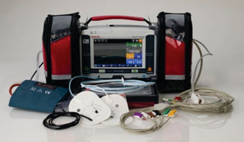 Image: The DEFIGARD Touch 7 emergency monitor/defibrillator (Photo courtesy of Schiller).