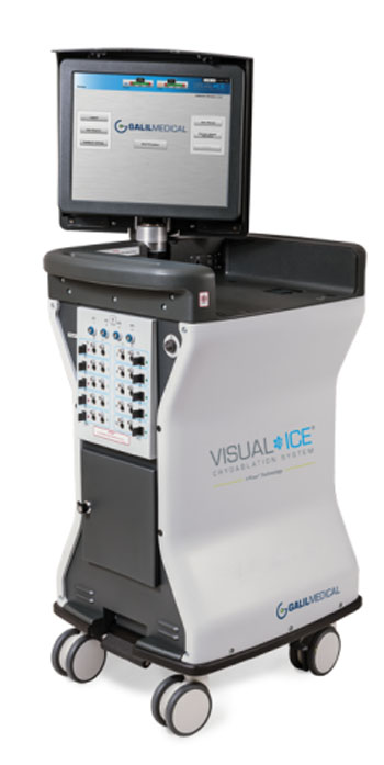 Image: The Galil Medical Visual-ICE cryoabpation system (Photo courtesy of Galil Medical).